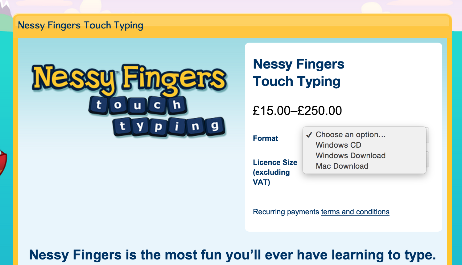 Nessy Fingers Touch Typing